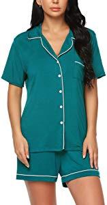 Free ARANEE Pajamas Women Short Sleeve Sleepwear...