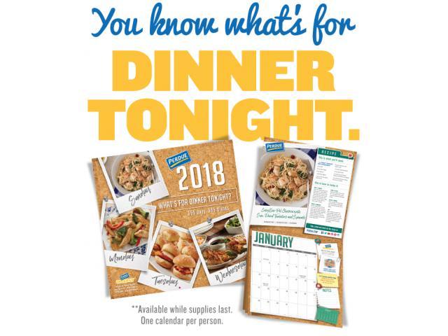 Grab A Free 2018 Perdue Recipe Calendar!